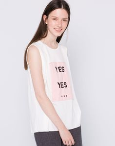 106d2666 Pull & Bear, T Shirt, How To Wear, Graphic Tank, Athletic Tank