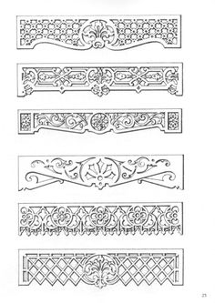 victorian fretwork patterns - Google Search