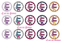 Bow Addict bottlecap images for hairbows/necklaces/buttons