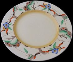 Clarice Cliff Plate - Tiger Tree Pattern