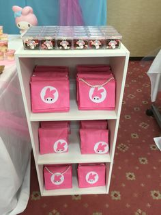 Felt made My Melody party favor bag