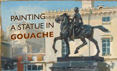 Painting a Statue in Gouache by James Gurney