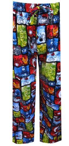 WebUndies.com Marvel Comics Avengers Assemble Comic Strip Panel Lounge Pants