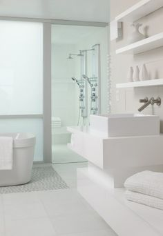 Use of white creates feeling of so much space...
