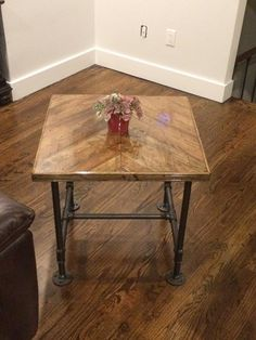 Side Table, Coffee Table, Accent Table, Handmade Rustic Industrial