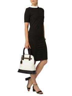 Rochie office, neagra, cu guleras alb-Dorothy Perkins Dresses For Work, Fashion, Moda, Fashion Styles, Fashion Illustrations, Fashion Models