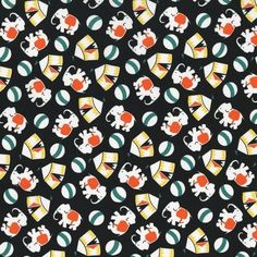 Eveything But The Kitchen Sink Fabric Elephants RJR Fabric Premium Cotton #RJRFabrics