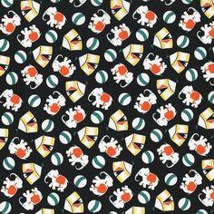Eveything But The Kitchen Sink Fabric Elephants RJR Fabric Premium Cotton #RJRFabrics