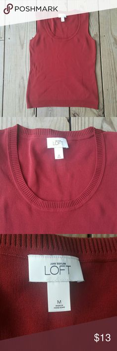 Ann Taylor LOFT slevless knit tank Knit, rayon/nylon blend, size med LOFT Tops Tank Tops
