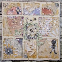 Two Gifts Canvas by Lynne Forsythe - Gypsy Moments Mixed Media Canvas - on the blog!!!! #rememberthemoments