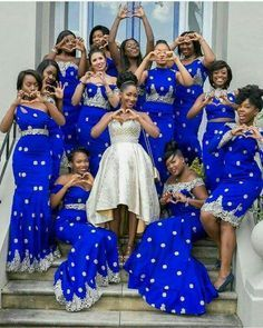 Amazing Royal Blue Mermaid Bridesmaid Gowns 7 Styles 2016 New Arrival Bridesmaids Dress For Wedding Women Special Occasion Dress African Attire, African Wear, African Women, African Dress, African Bridesmaid Dresses, African Wedding Dress, Prom Dresses, Bridesmaid Gowns, Dresses 2016