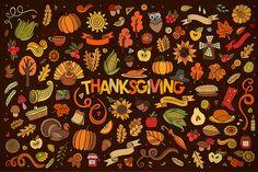 Set of Thanksgiving Elements by balabolka on Creative Market