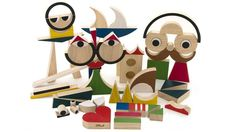 Miller Goodman PlayShapes are fantastic wooden blocks that allow children (and adults) to fashion an unlimited array of geometric shapes and creations. Wooden Blocks Toys, Wood Toys, Wood Blocks, Modern Kids Toys, Bühnen Design, Modern Design, Block Design, The Rok, Shape Crafts