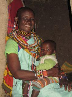 Massai woman with her grandchild