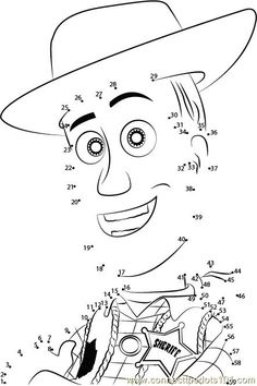 Toy Story Trusted One dot to dot printable worksheet - Connect The Dots Toy Story Coloring Pages, Disney Coloring Pages, Colouring Pages, Coloring Pages For Kids, Coloring Books, Preschool Worksheets, Printable Worksheets, Preschool Activities, Toy Story Birthday