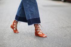 Chloe lace-up sandals | THEFASHIONGUITAR