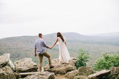 Courtney   Tim \ Mountaintop Engagement Session
