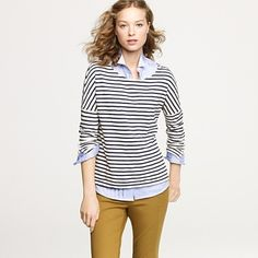 one of my favorite tees - i love the buttons up the side and the mix of horizontal/diagonal stripes!