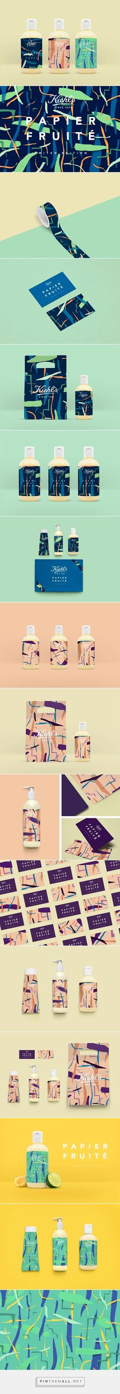 Kiehl's - Papier Fruité , Packaging and Branding Packaging Box Design, Print Packaging, Packaging Design Inspiration, Label Design, Graphic Design Inspiration, Package Design, Corporate Design, Brand Identity Design, Graphic Design Typography