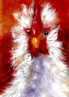 rooster again - Original Fine Art for Sale - � by Kristen Dukat