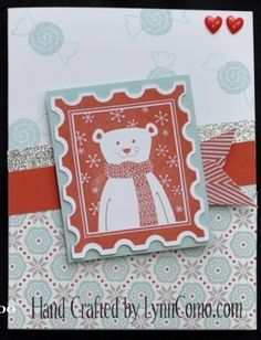 Home for the Holidays Christmas card & Snowhaven paper pack. http://LynnComo.ctmh.com