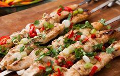 #bbq #sweetchilli #chicken #summer #tasty #skewers