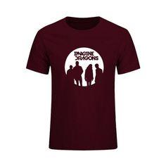 Mens T Shirts Hip Hop Imagine Dragons Printed Cotton Short Sleeve T-Shirt Men Summer Mic Rock Band Streetwear
