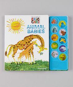 Look at this #zulilyfind! Animal Babies Play-A-Sound Board Book #zulilyfinds
