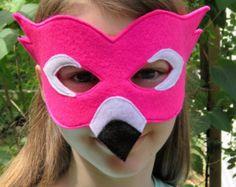 Felt Flamingo Mask - Bird Mask - Masquerade - Carnival - Mardi Gras - Costume - Halloween