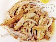 Brown Sugar Maple Pork Roast - Once A Month Meals - Freezer Meals - Freezer Cooking - OAMC