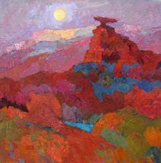 """Larisa Aukon at Mirada Fine Art, 'Moon of the Earth,' Original Oil on Panel, 30"""" x 30"""""""