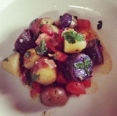 Vegan potato salad with parlsley and balsamic vinaigrette
