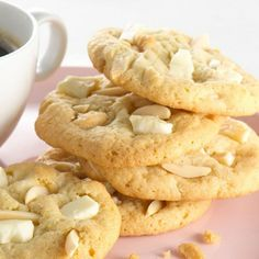 Almonds and white chocolate complement each other in these delicious cookies.