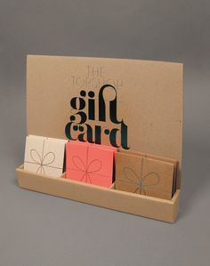 Topshop Gift card #design | Lush #Typography