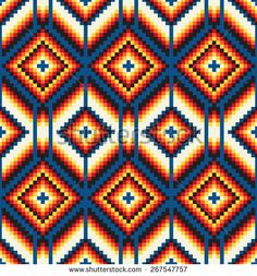 Find Tribal Seamless Colorful Geometric Pattern stock images in HD and millions of other royalty-free stock photos, illustrations and vectors in the Shutterstock collection. Thousands of new, high-quality pictures added every day. Native Beading Patterns, Beadwork Designs, Bead Loom Patterns, Geometric Patterns, Tapestry Crochet Patterns, Crochet Stitches Patterns, Crochet Chart, Quilt Patterns, Swedish Weaving Patterns