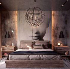 See more bedroom design ideas to inspire you for your interior design project! Look for more luxury decor inspirations at modernbedrooms Modern Master Bedroom, Modern Bedroom Decor, Master Bedroom Design, Home Bedroom, Modern Bedrooms, Bedroom Ideas Grey, Bedroom Ideas For Couples Modern, Guy Bedroom, Bedroom Interiors