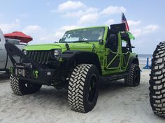The Gecko #Jeep chillin' at #JeepBeach! #JeepLife #JeepLove #itsaJEEPthing #MORE #JeepMore #MountainOffRoad