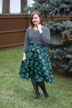 Brocade Skirt and Dots
