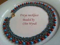 Beaded by Chin Wyndi! Refreshing colors! Thank you Chin for the photo!