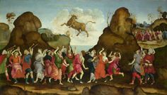 Fra Filippo Lippi Worship of the egipcian bull god Apis. National Gallery (google search: N-4905-00-000051-WZ-PYR-jpg)
