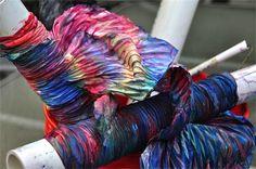 Tutorial: Shibori with fabric paint