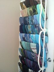 5 great ideas for organizing your hijabs hijab fashion scarf rack organization storage and display . Clothes Hanger Storage, Scarf Storage, Shoe Storage, Storage Ideas, Storage For Scarves, Organizing Scarves, Shoe Hanger, Shoe Racks, Towel Hanger