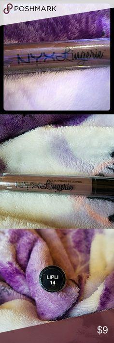 NYX Lingerie Lip Gloss (Brand New) (Confident) NYX Lingerie Lip Gloss (Brand New) (Confident) NYX Makeup Lipstick