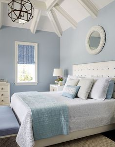 blue and white bedroom | Andrew Howard Interior Design