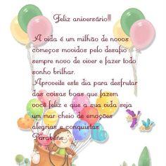 A vida é um milhão de novos começos... Feliz Aniversário!!!