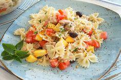 Kitchen Stories: Farfalle with Tuna & Caper Kitchen Stories, Tuna, Pasta Salad, Salads, Skillet, Ethnic Recipes, Food, Crab Pasta Salad, Eten