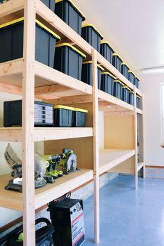 DIY Garage Shelves — Modern Builds DIY Garage Shelves — Modern Builds,Werkzeug, Werken, Werkstatt The Ultimate Garage Storage / Workbench Solution. By: Mike Montgomery
