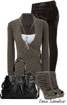 """Sweater"" by denise-schmeltzer ❤ liked on Polyvore. THOSE SHOES!!"