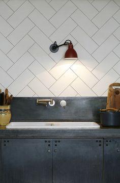kitchenwalls keukenbehang visgraat wit