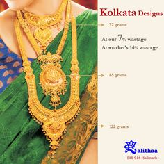 Weddings and festivities always call for special jewellery. How about this necklace designs? Gold Mangalsutra Designs, Gold Jewellery Design, Bridal Jewellery, Gold Jewelry Simple, Gold Necklace, Necklace Set, Necklace Designs, Henna, Blouses